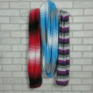 ✨Set 3 Tickled Pink Infinity Scarves